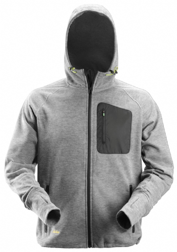 Snickers 8041 FlexiWork Fleece Hoodie (Grey/Black)
